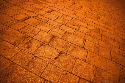 Yellow Concrete Tiles Perspective Background