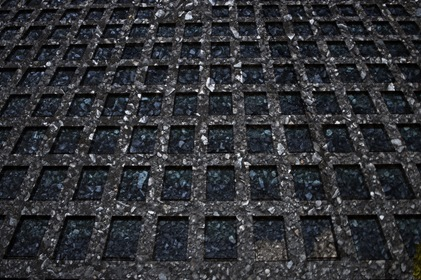 Perspective Black Square Tiles Background Texture
