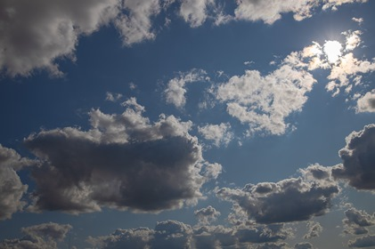 Silhuette Clouds Background
