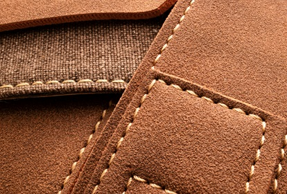 Stacked Leather Material With Seams