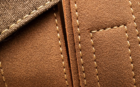 Stacked Leather Material With Stitches
